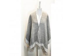 Poncho bicolore gris & blanc - Labonal