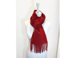 Écharpe unie 100% laine rouge - Labonal