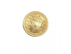 Bouton blason métal doré