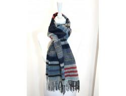 Écharpe style écossais bleu - Labonal