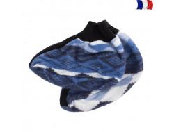 Chaussons de lit, bleu