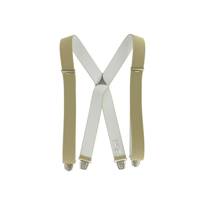 Bretelles pinces 3.5 x 110 Beige
