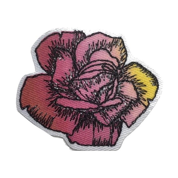 écusson fleur