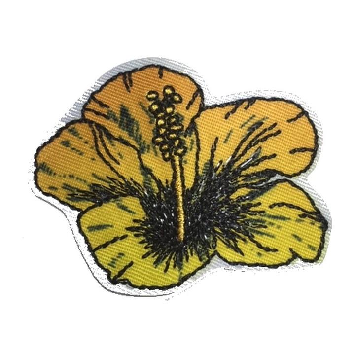 écusson fleur hibiscus