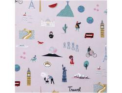 Tissu imprimé Travel the world - Rico Design
