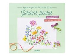 Livre agenda point de croix 2019 - Jardins fleuris