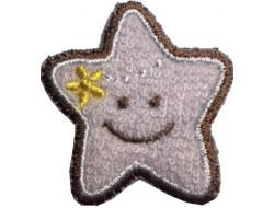 écusson étoile rose