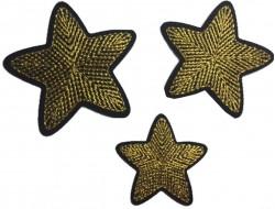 écusson étoile doré