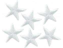 Écusson thermocollant mini étoile blanche
