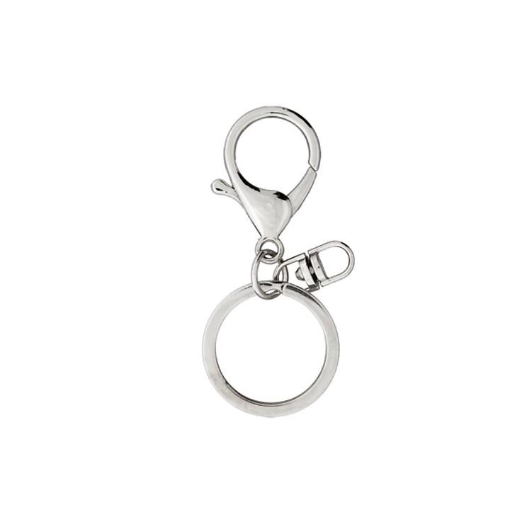 Mousqueton + anneau ouvert argent