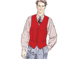 Patron gilet, chemise, cravate, noeud papillon homme Mc Call's M2447