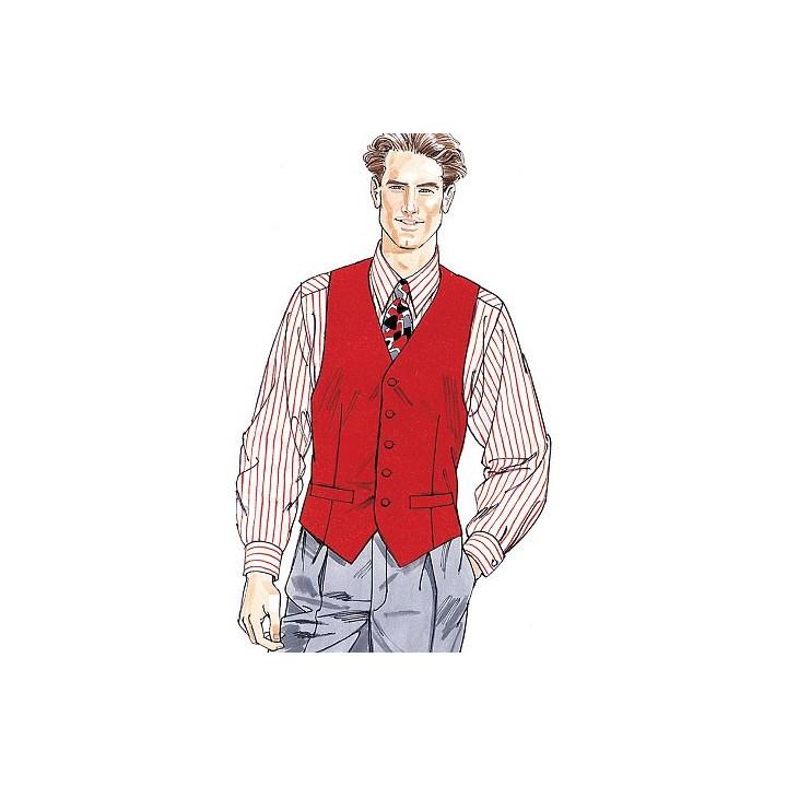 gilet, chemise, cravate, noeud papillon