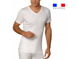 T-shirt MC col V Rhovyl - ACHEL