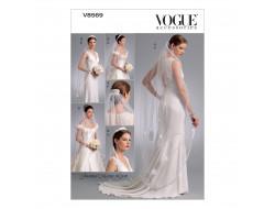 Patron de voiles de mariée - Vogue