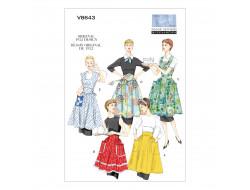 Patron de tablier vintage 1952 - Vogue