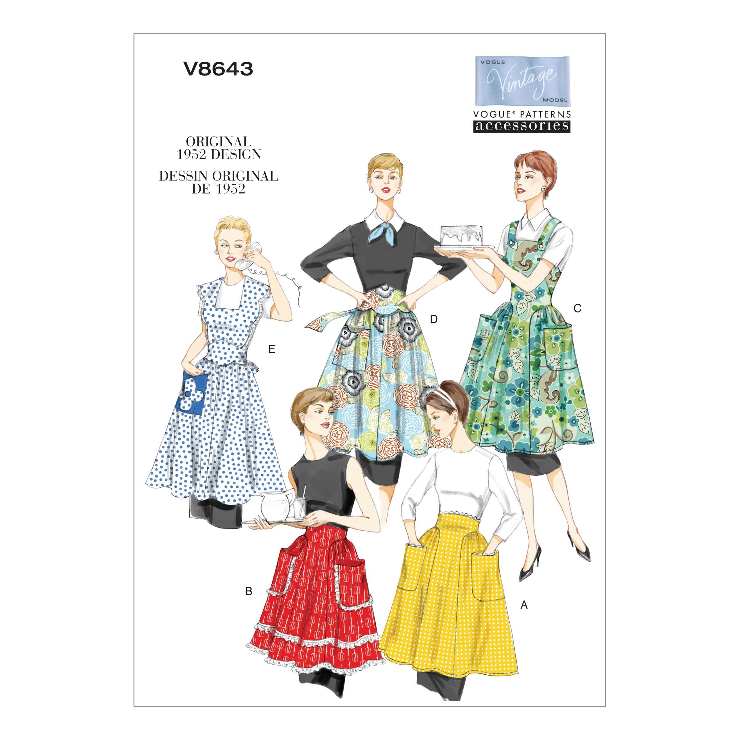 Patron de tablier vintage 1952 - Vogue, Mercerie Floriane