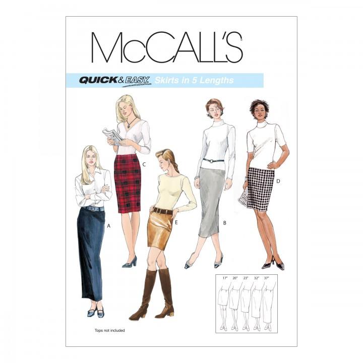Patron jupe femme McCall's M3830