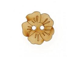 Bouton fleur en bois - 36 mm