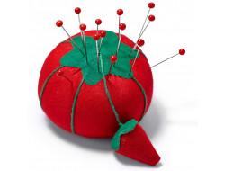 Coussin pique aiguilles tomate