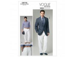 Patron de veste et pantalon pour homme - Vogue 8719