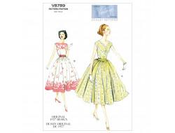 Patron de robe Vintage 1957 - Vogue 8789