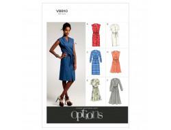 Patron de robe et ceinture - Vogue 8810
