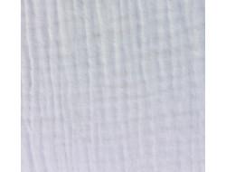Tissu double gaze ivoire