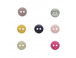 Boutons colorés 2 trous - 10 mm