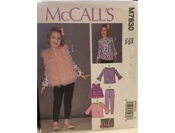 Patron tunique, gilet, collants pour enfant McCall's M7830