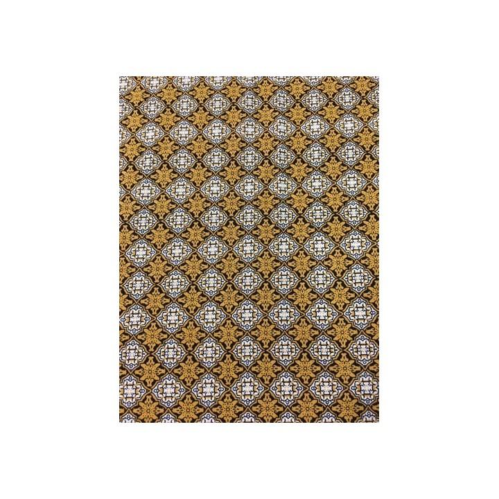 tissu viscose imprimé jaune