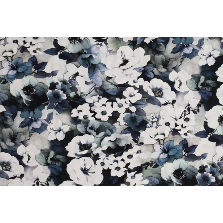 tissu jersey fleuri