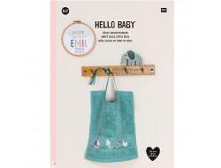 167 - Livre point de croix Hello Baby, RICO