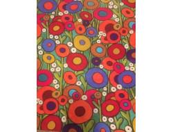 tissu maille fleurs couleur