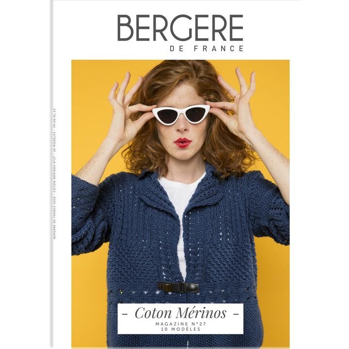 Magazine tricot N°27, Coton mérinos, Bergère de France