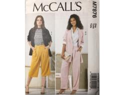 Patron veste et pantalon pour femme McCall's M7876