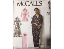 Patron veste, peignoir et pantalon femme McCall's M7875