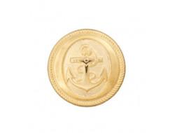 Bouton doré ancre de marine