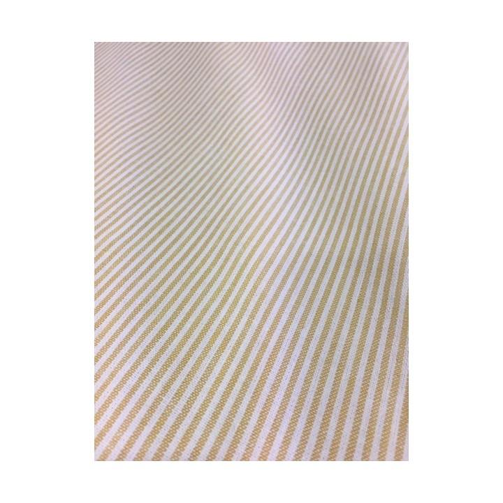 Tissu lin bayadère jaune