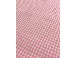 Tissu imprimé - Vichy petits carreaux rose