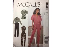 Patron combinaison femme McCall's M7872