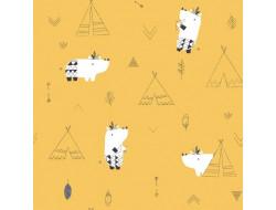 Tissu popeline de coton Pioneers Hipos - Katia Fabrics