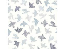 Tissu popeline de coton Japanese Birds - Katia Fabrics
