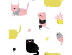 Tissu popeline de coton Knitting Meow - Katia Fabrics