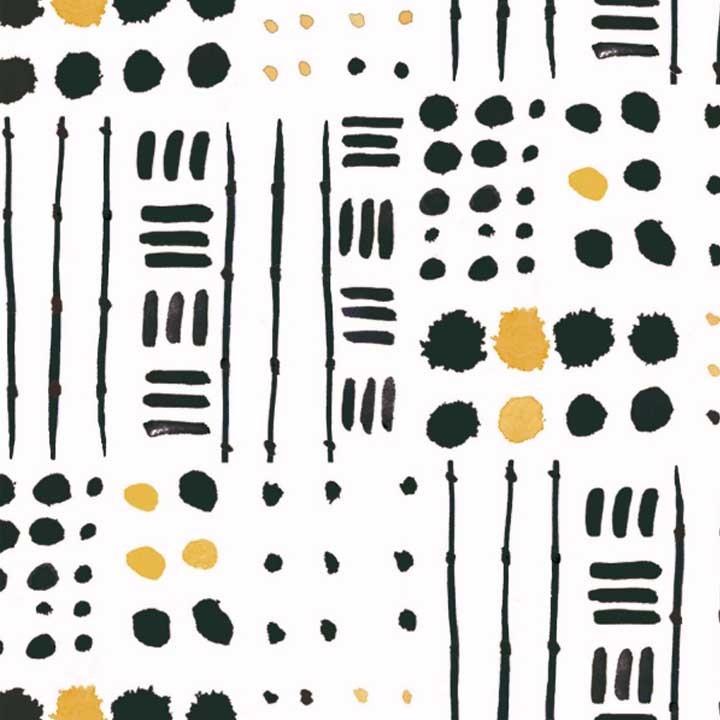 Tissu canvas Gold Drops - Katia Fabrics