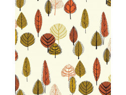 Tissu canvas gold Leaves - Katia Fabrics