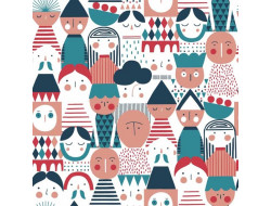 Tissu Canvas Geo Figures - Katia Fabrics