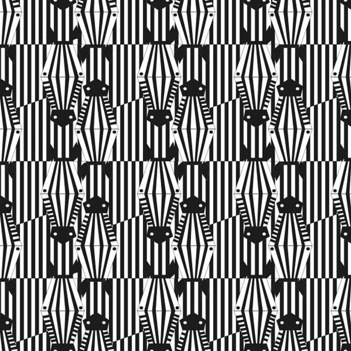 Tissu Canvas Zebra - Katia Fabrics