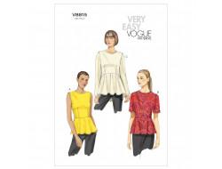 Patron de haut - Vogue 8815