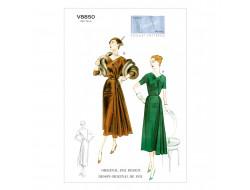 Patron de robe et ceinture Vintage - Vogue 8850