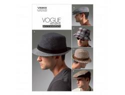 Patron de chapeaux pour hommes - Vogue 8869